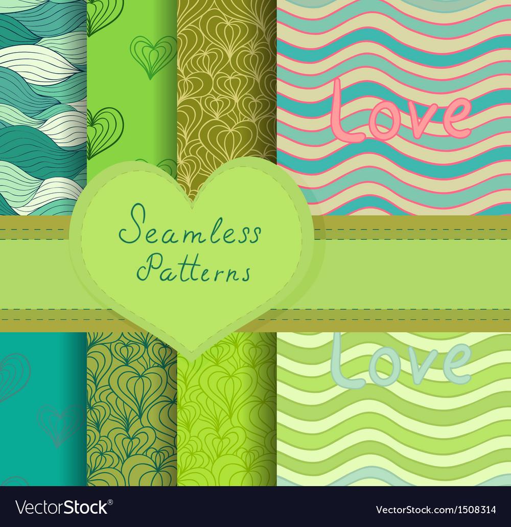 Colorful seamless patterns set