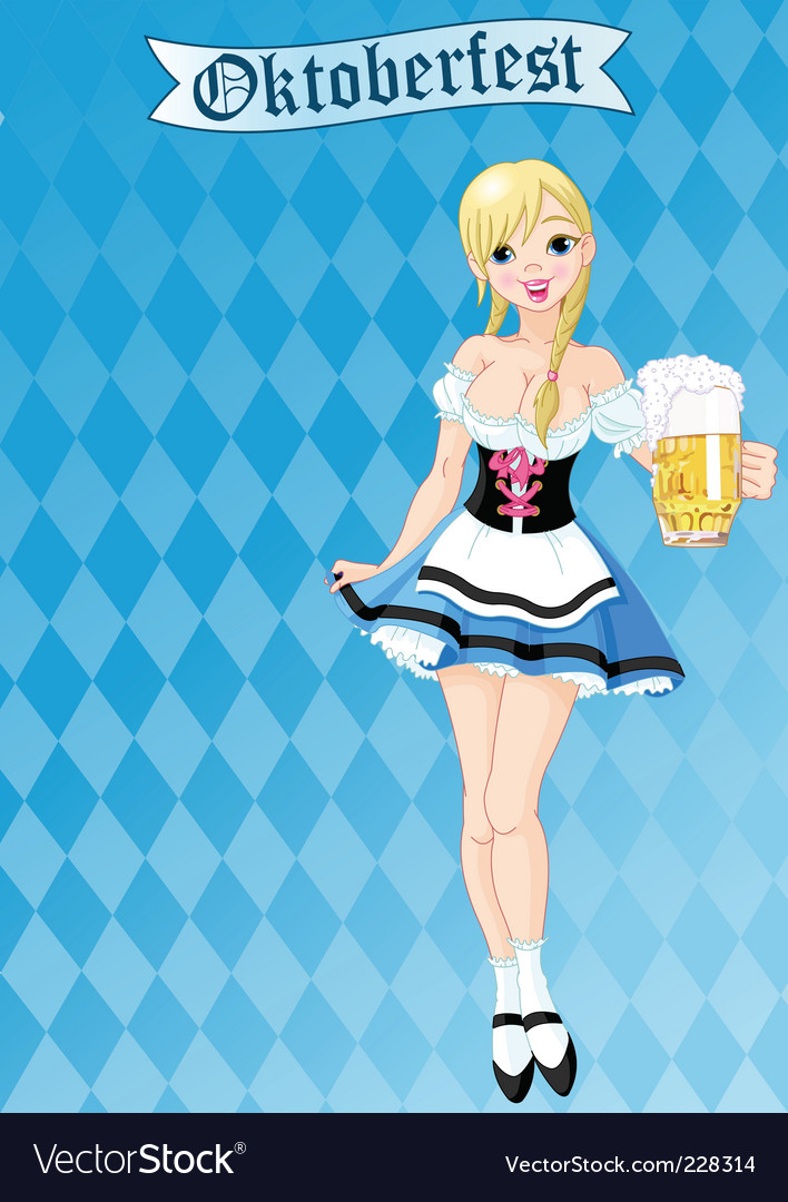 Oktoberfest girl vector image
