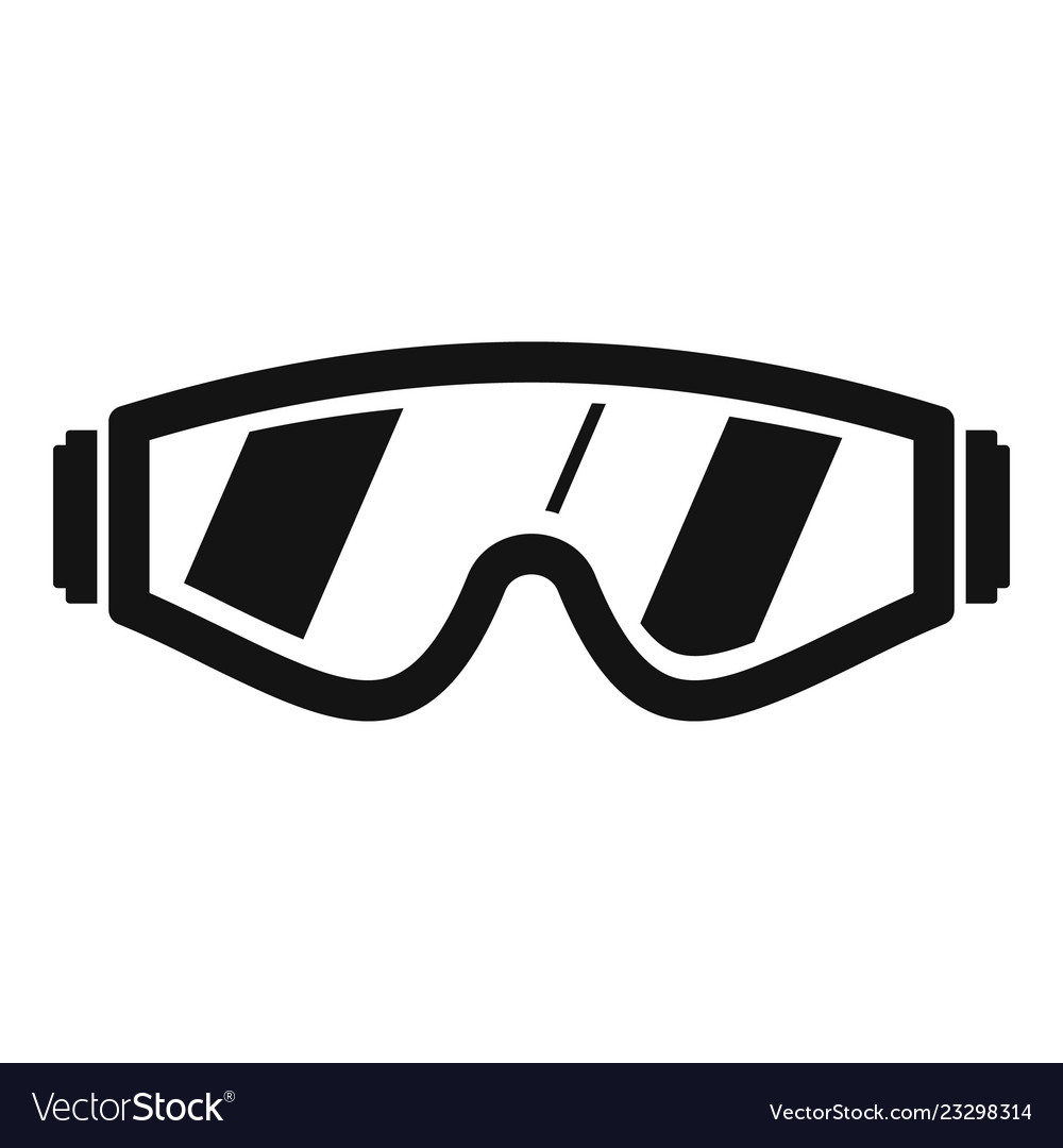 Safety glasses icon simple style