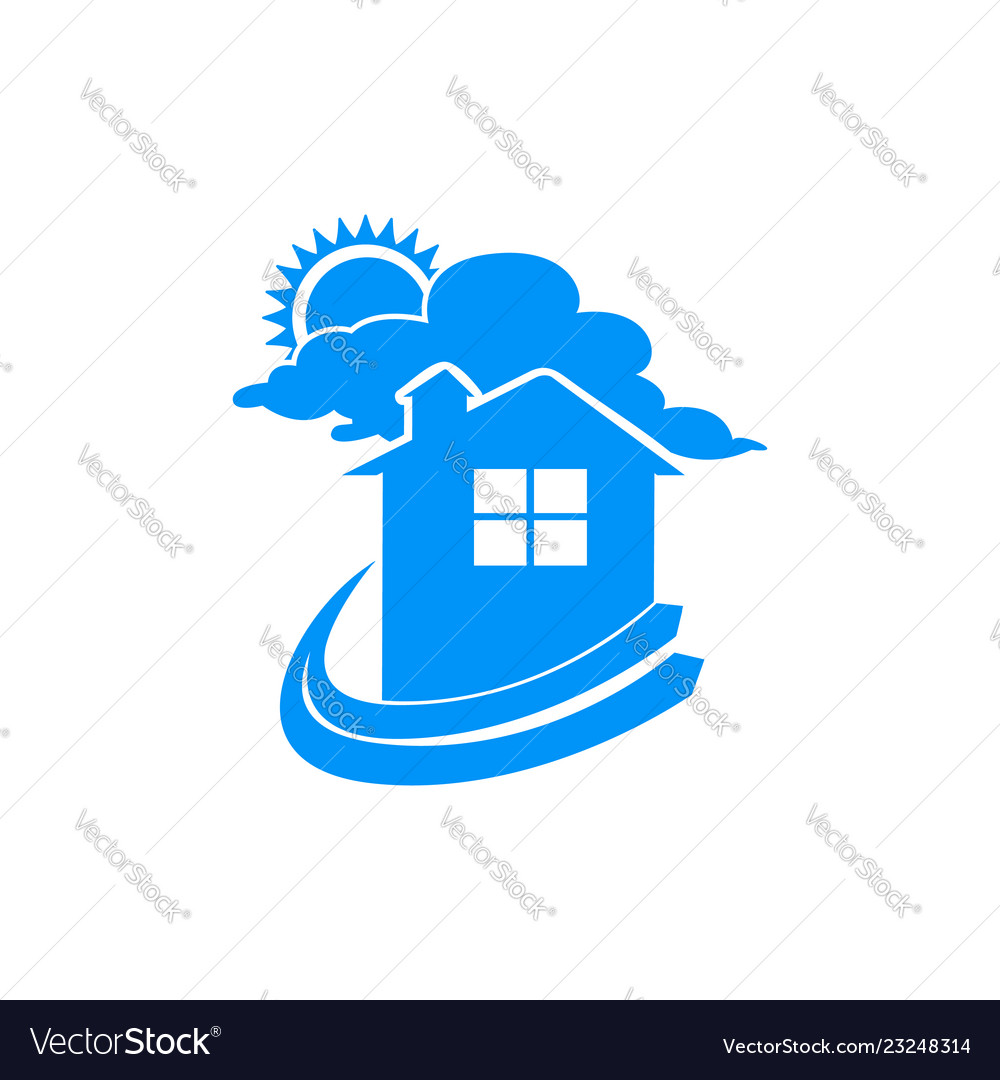 Simple dream home logo symbol graphic design