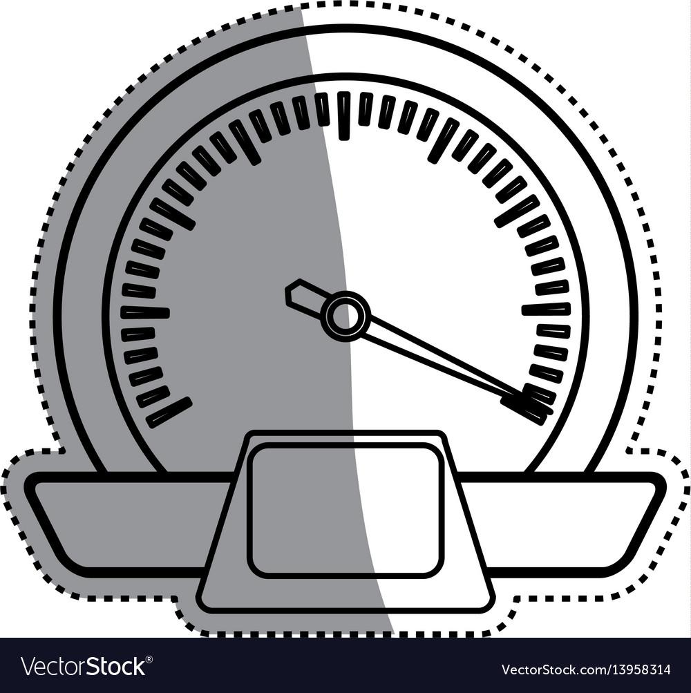 Speedometer power car