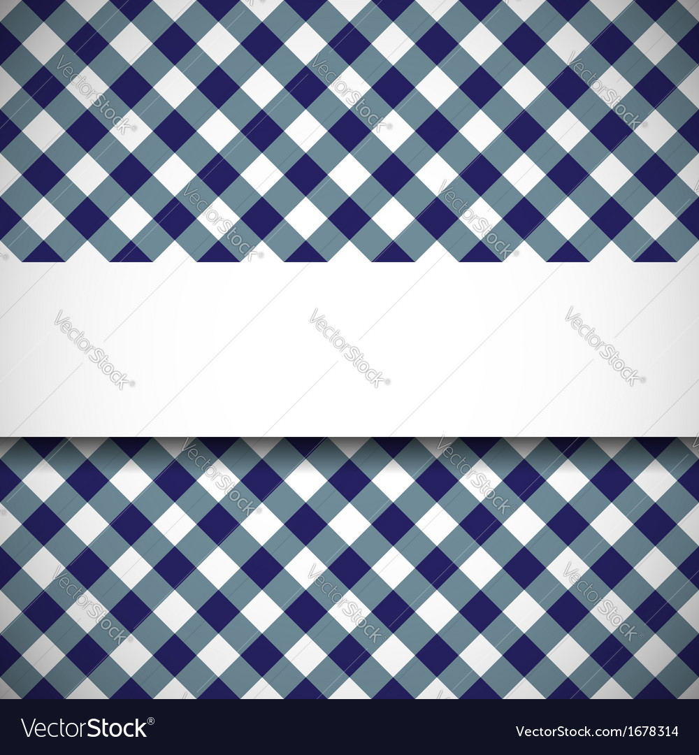 Tilted gingham plaid pattern vector image