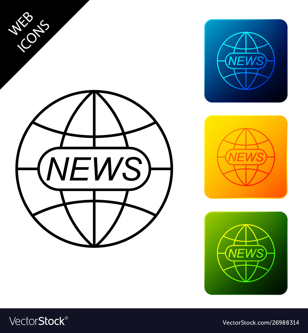 World and global news concept icon isolated world