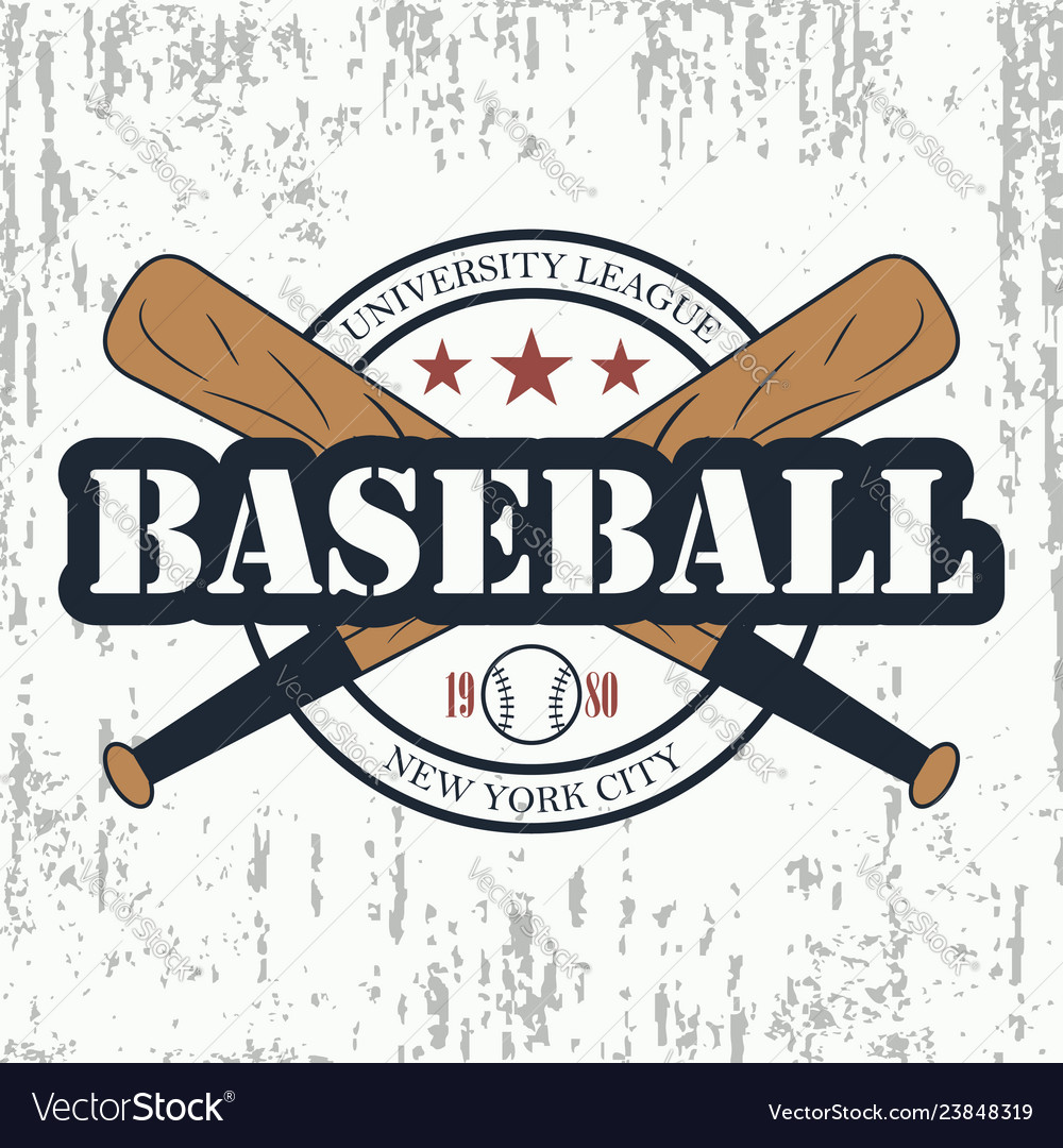 Baseball grunge typography