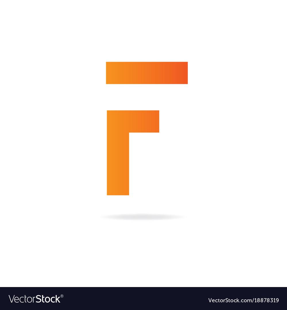 Letter f logo design template elements royalty free vector letter f logo design template elements vector image maxwellsz