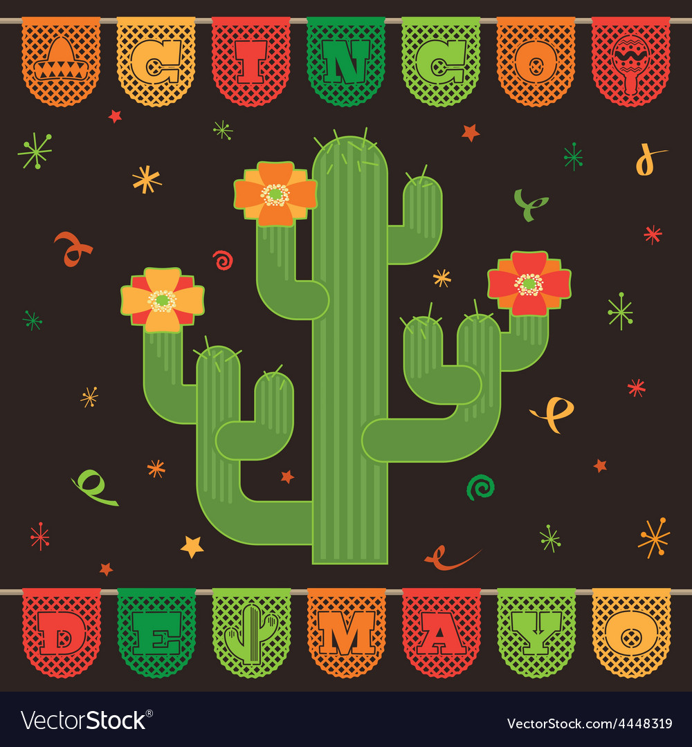 Mexican decoration vector image