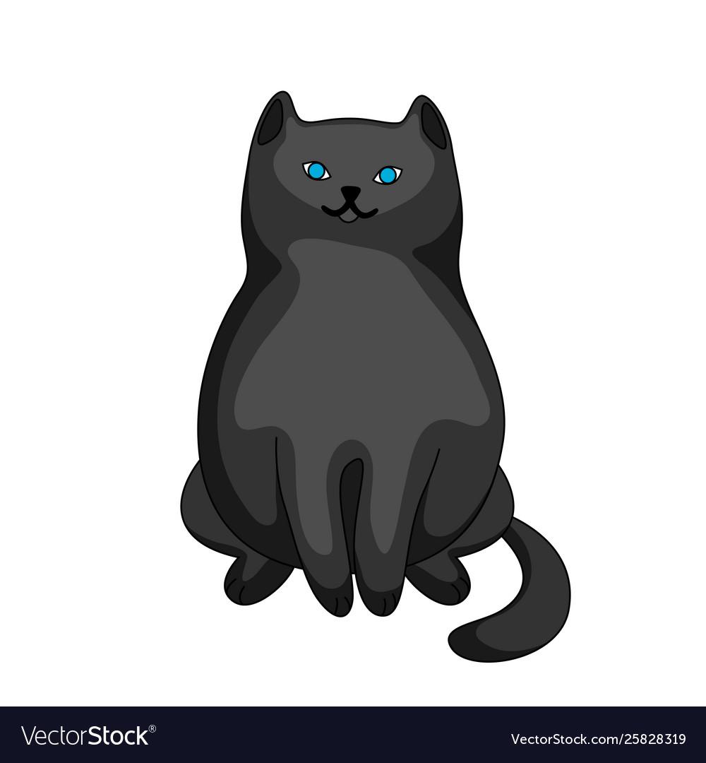 Stylized cartoon black cat
