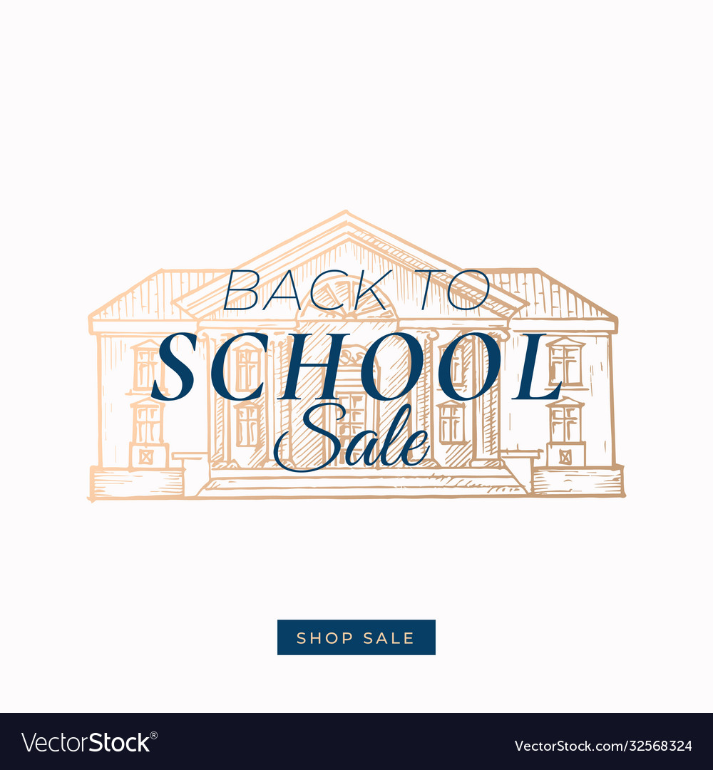 Back to school autumn sale abstract label