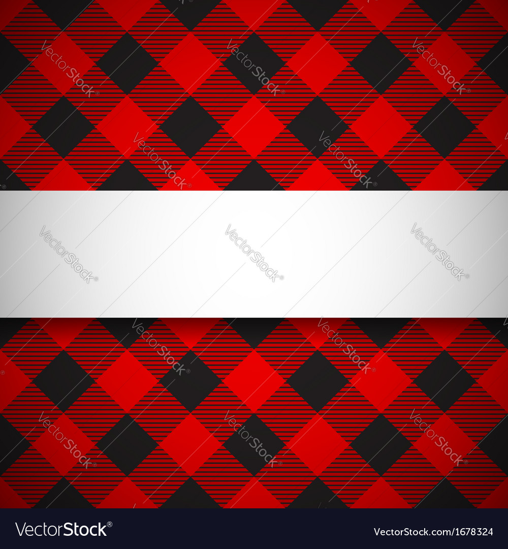 Classic tilted lumberjack plaid pattern vector image