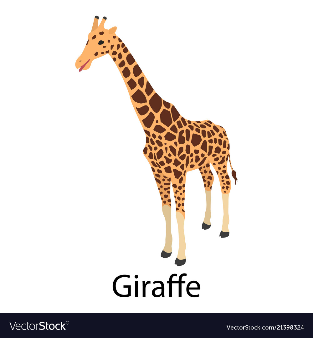 Giraffe icon isometric style
