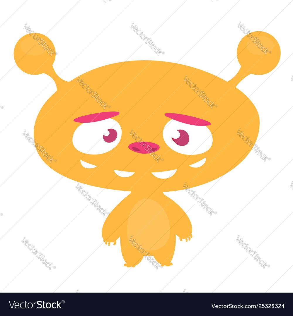 Cute alien head stock vector. Illustration of vector - 125822573