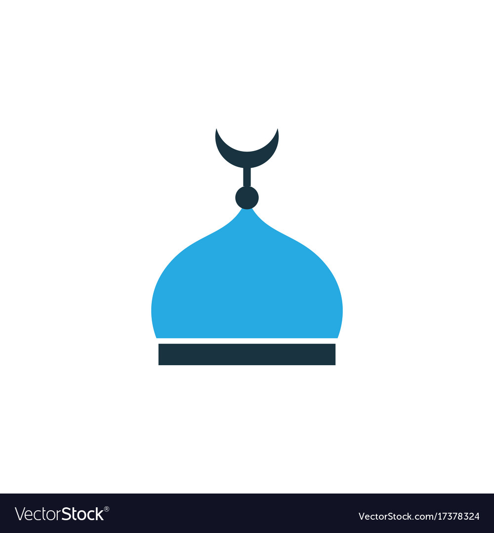 Minaret colorful icon symbol premium quality