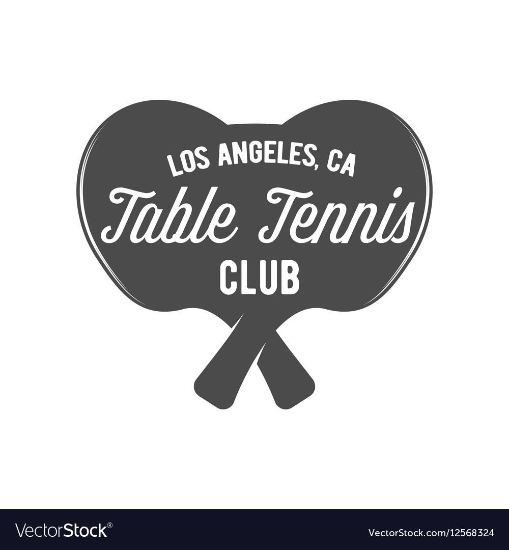 Ping pong emblem label badge and designed