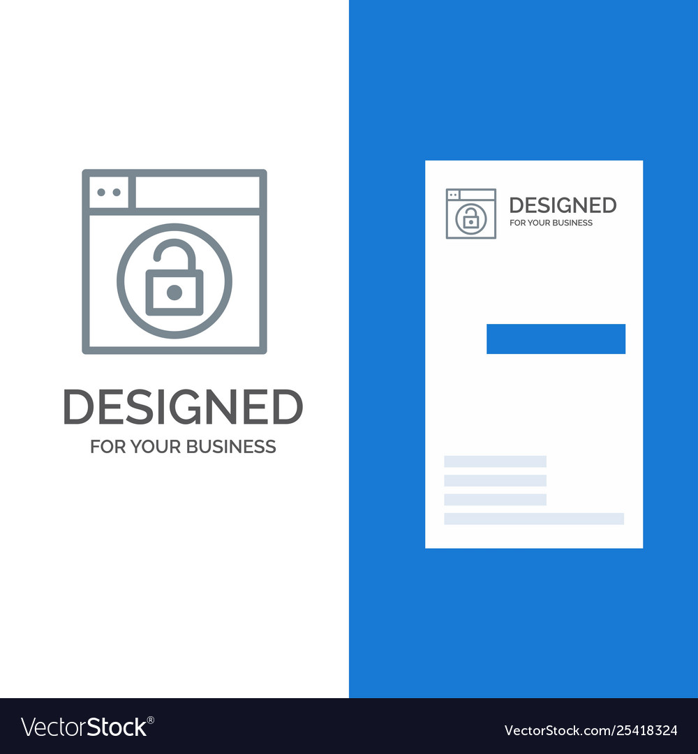 Web design lock unlock grey logo design and