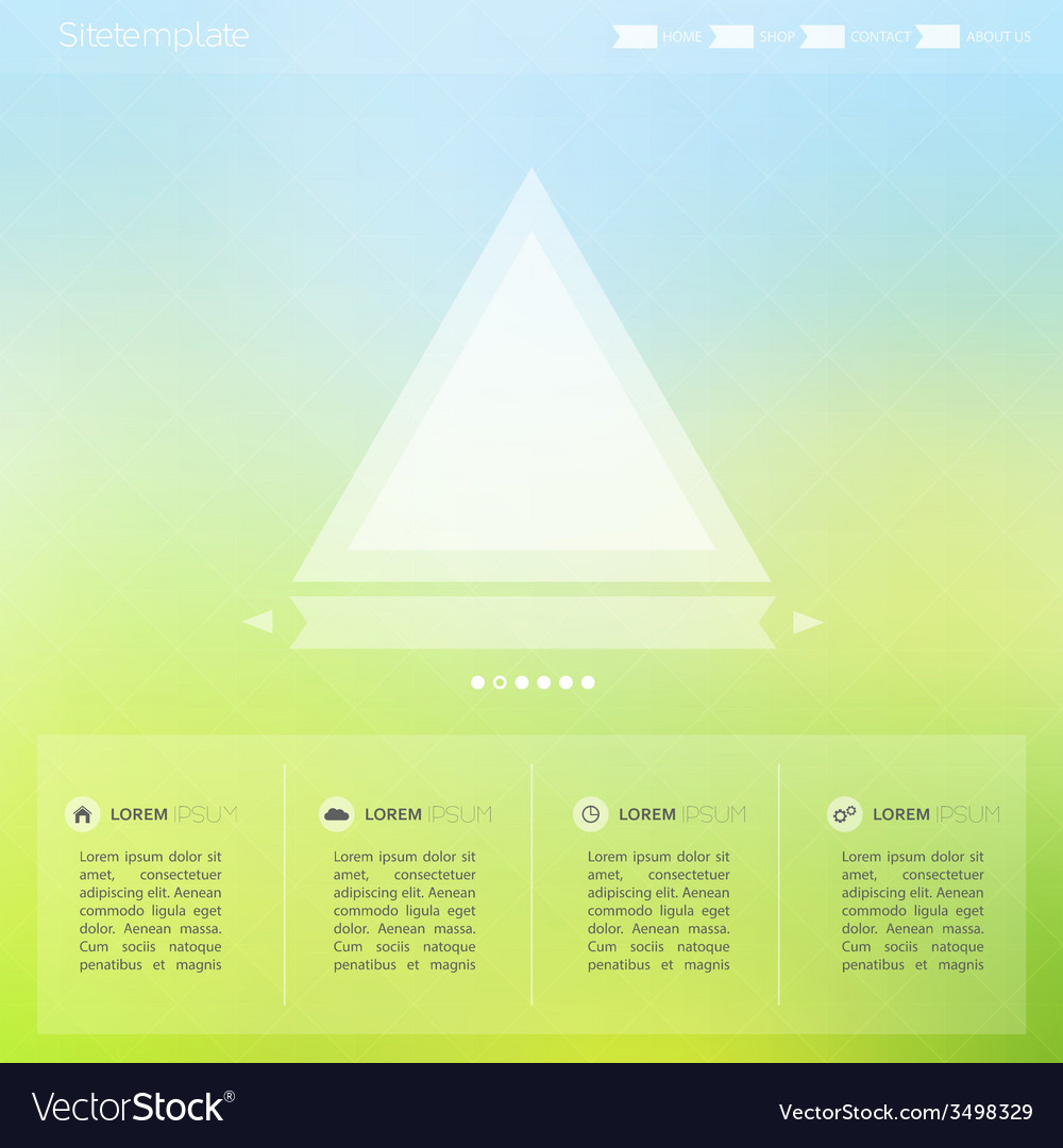 Bright interface for the Web and mobile site