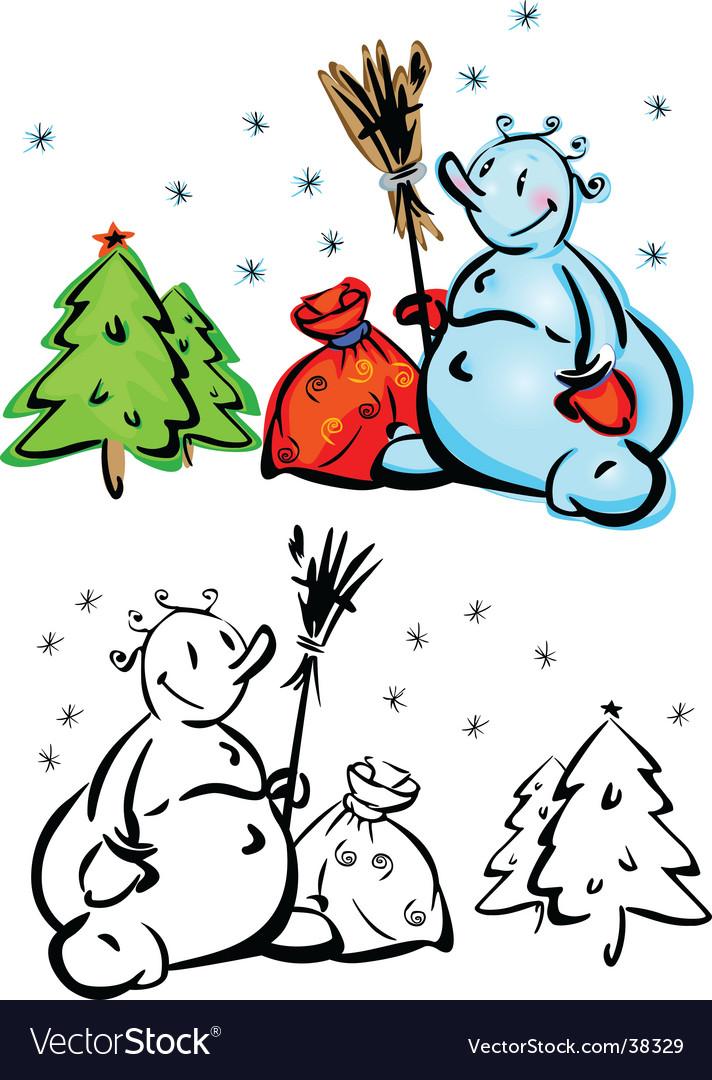 Cartoon snowmen