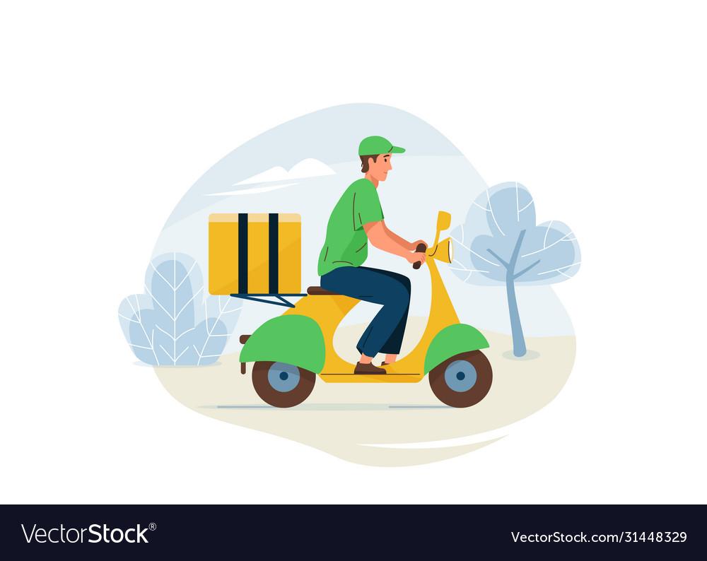 Delivery service fast safe