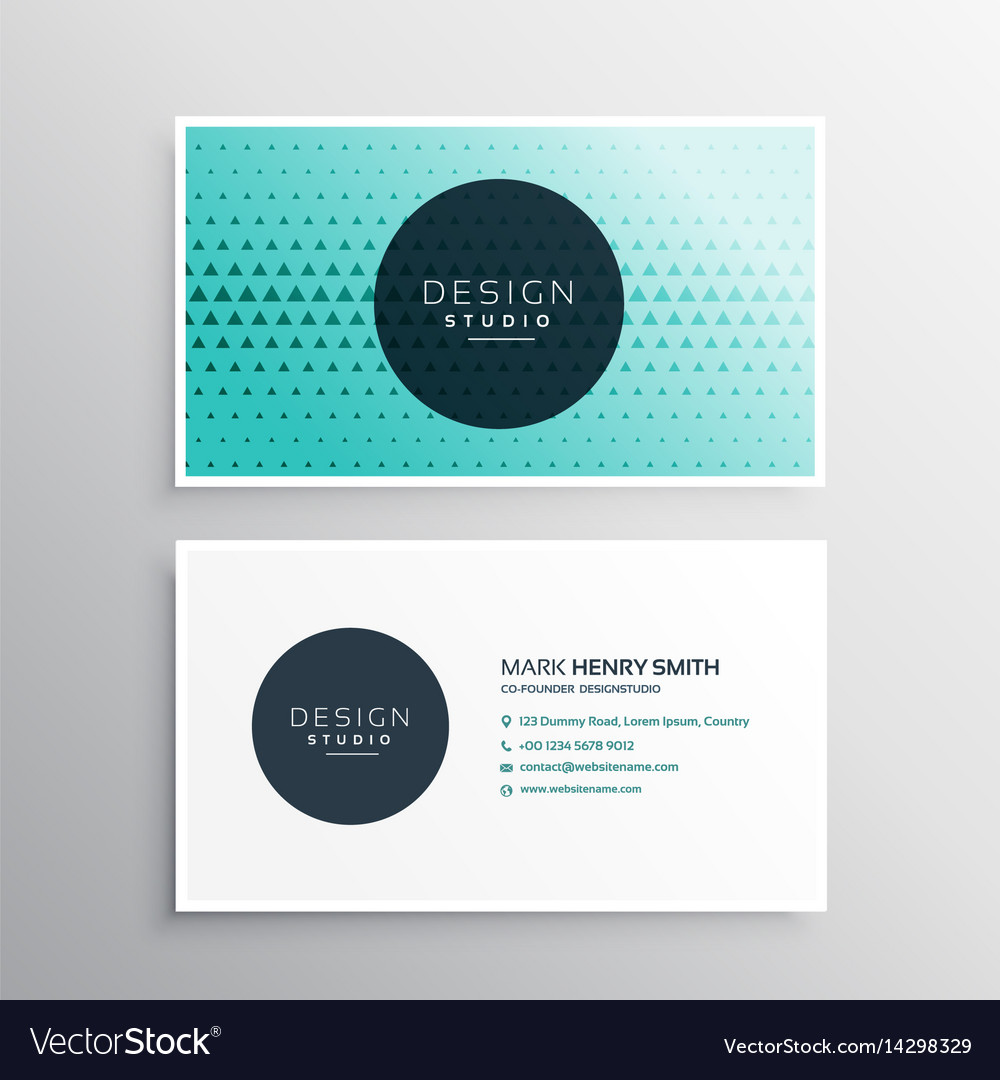 Elegant business card template with triangle