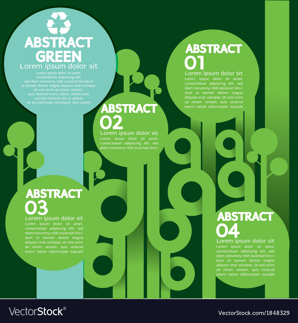 Green Concept Infographics