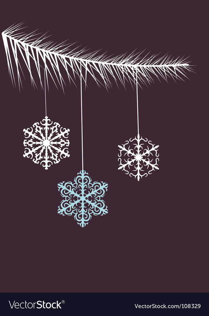 Hanging snowflakes vector image