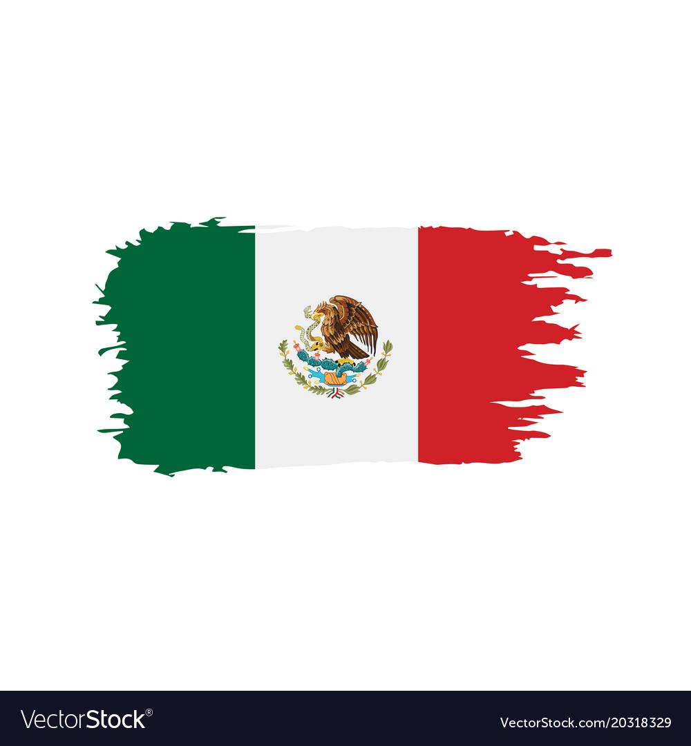 mexican flag royalty free vector image vectorstock rh vectorstock com new mexico flag vector mexican flag vector free