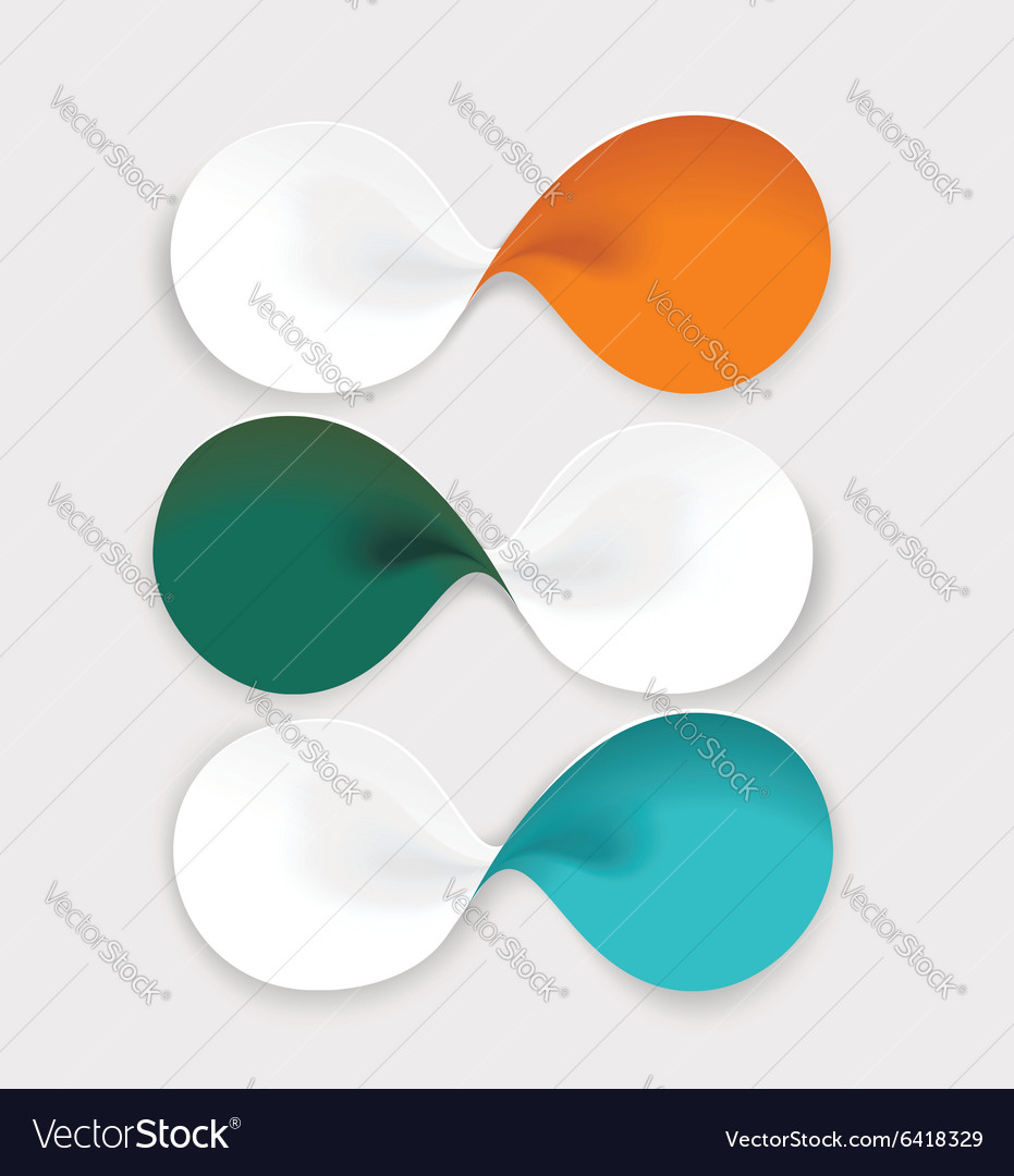 Modern design from spiral banners Can be used for