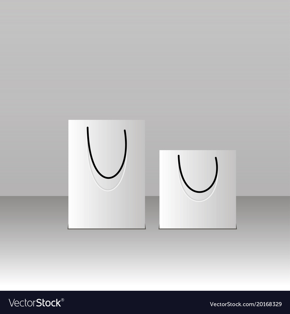 paper bag template royalty free vector image vectorstock