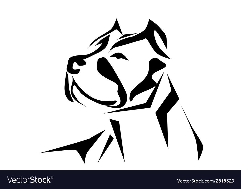 Pitbull vector image