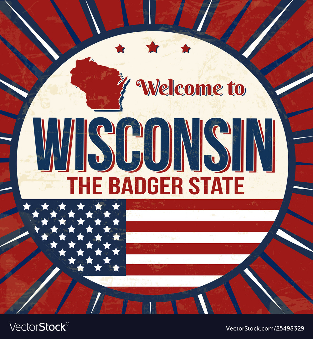 Welcome to wisconsin vintage grunge poster