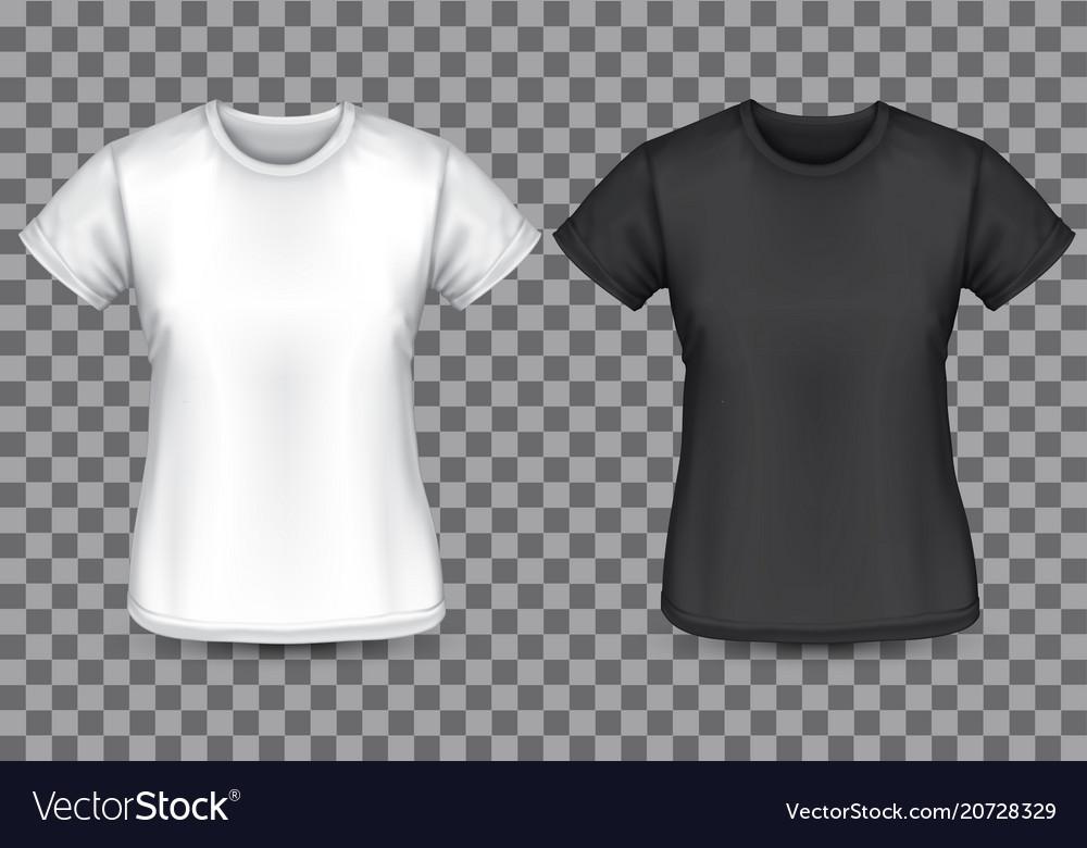 Woman t-shirt white black front checkered