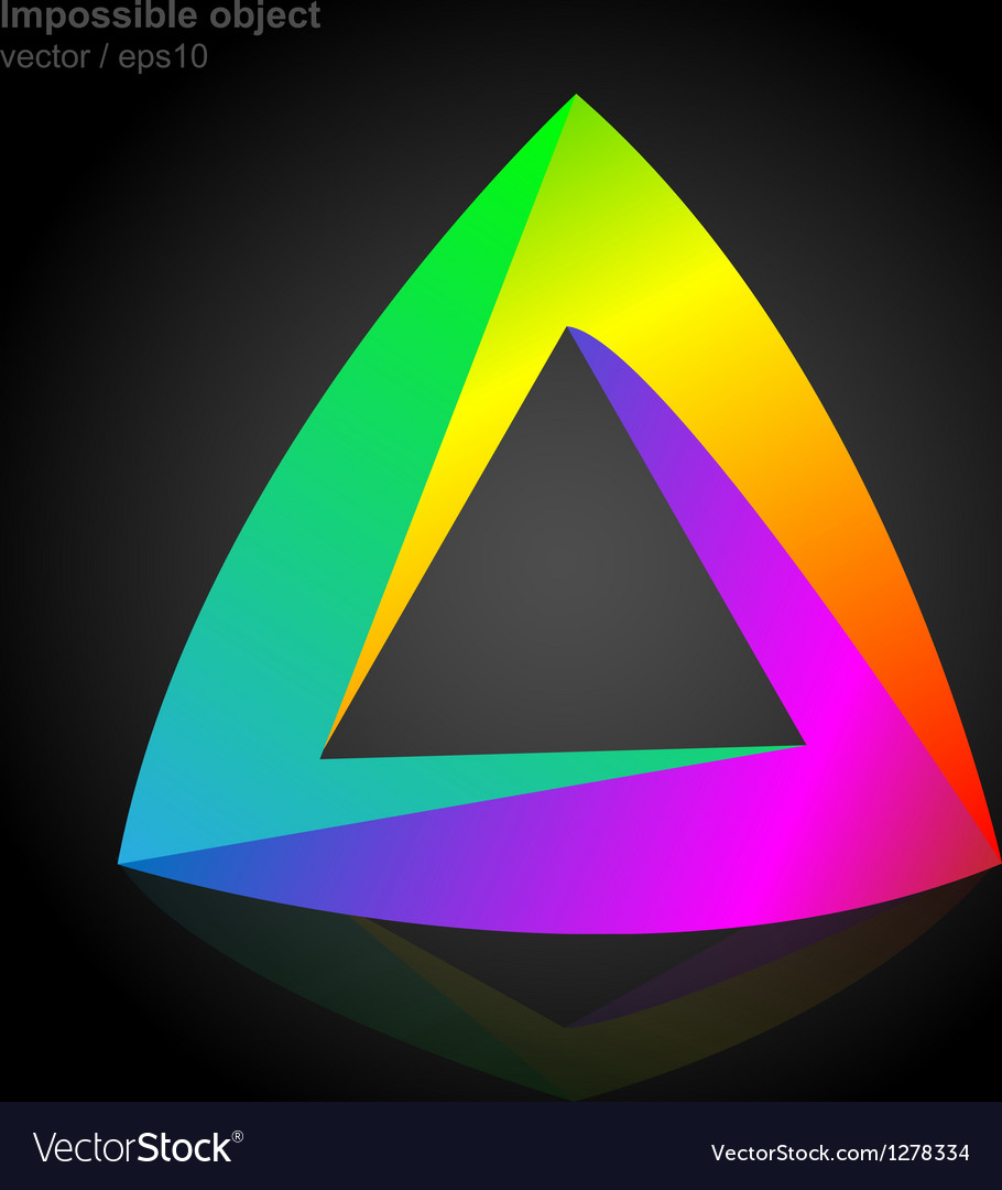 Abstract symbol impossible object triangle vector image