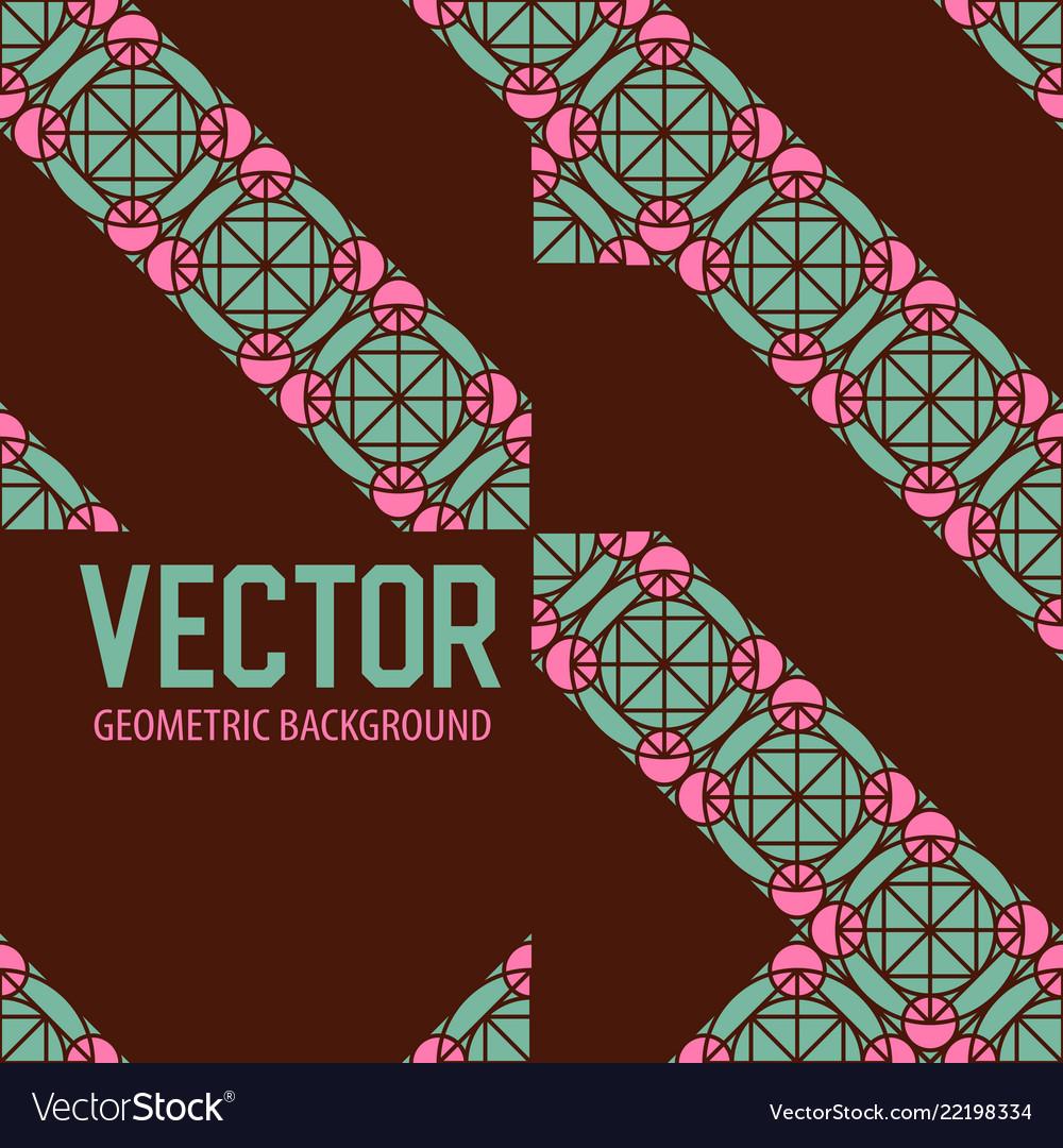 Geometric tiles decoration background