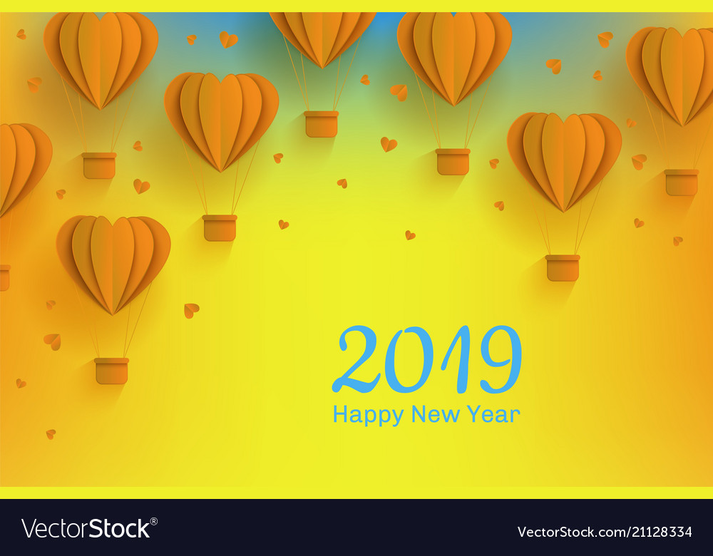 Happy new 2019 year congratulation banner in