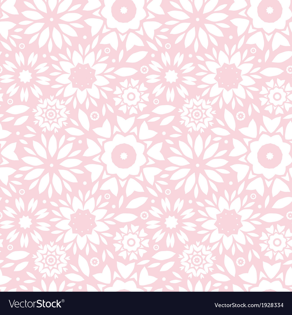 Light Pink Abstract Flowers Seamless Pattern