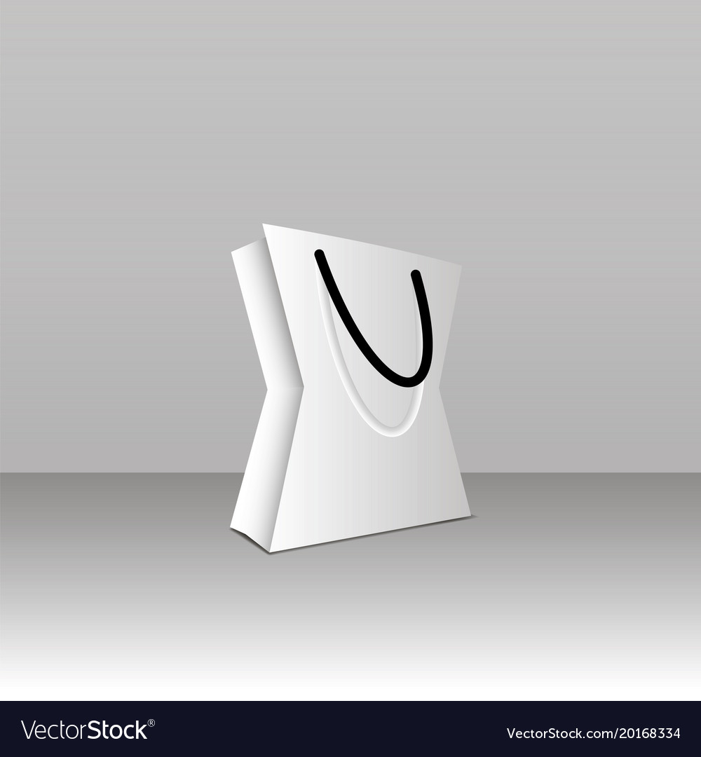 Paper bag template Royalty Free Vector Image - VectorStock