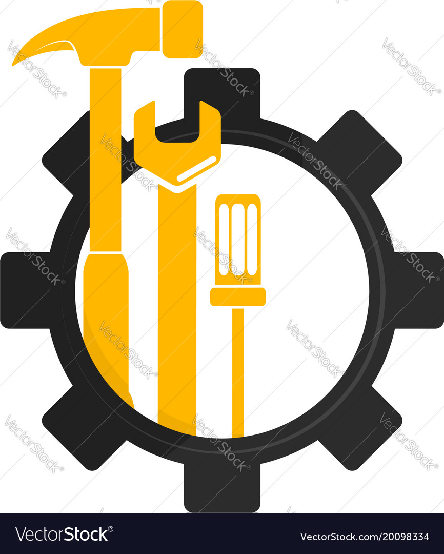 Repair and maintenance symbol vector image