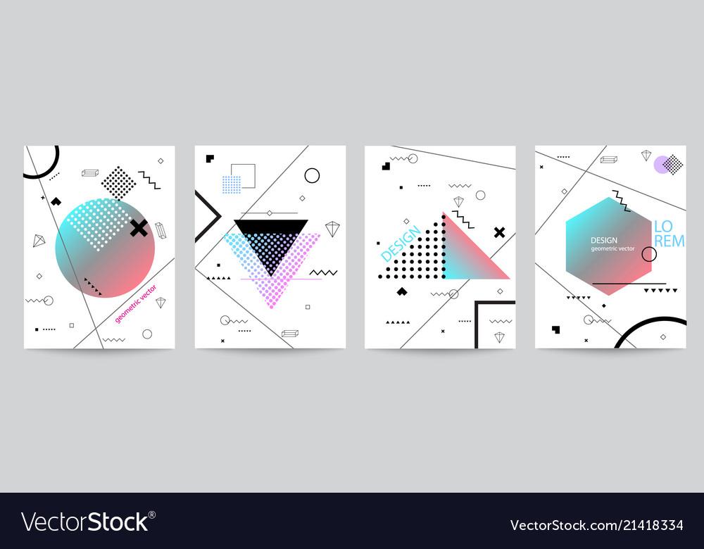 Set of minimalist covers design with geometric