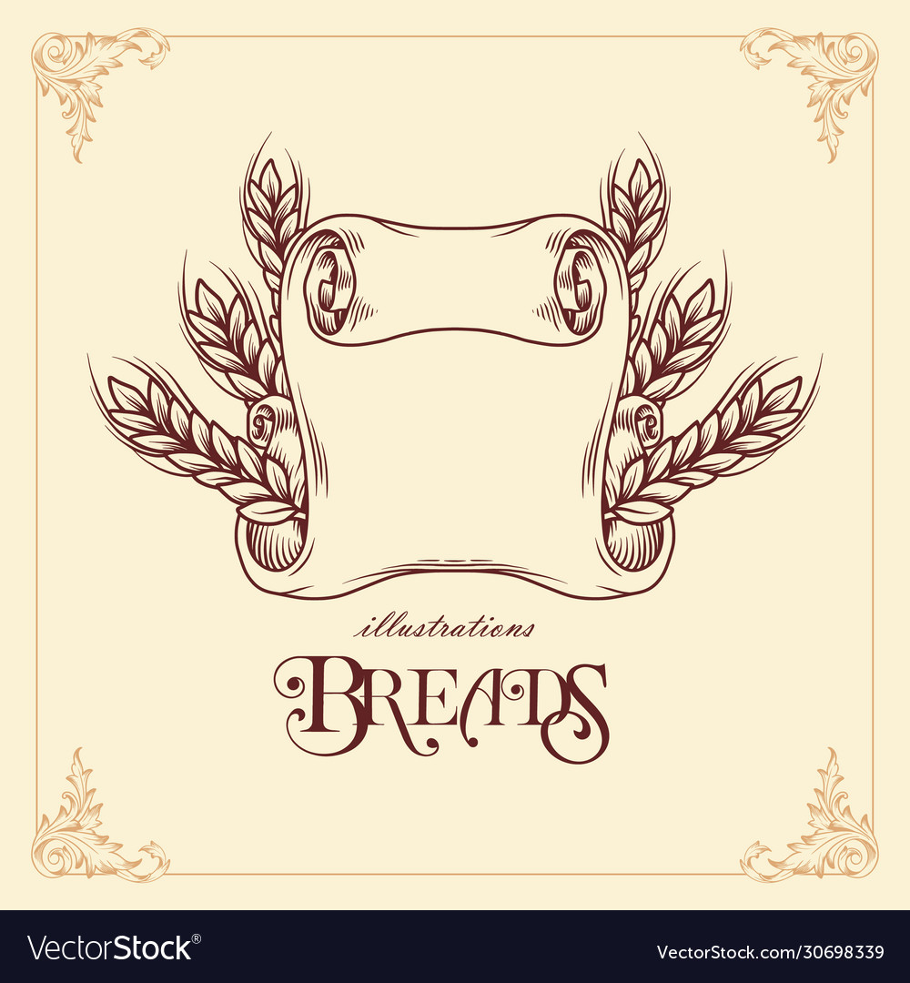 Breads ribbon template