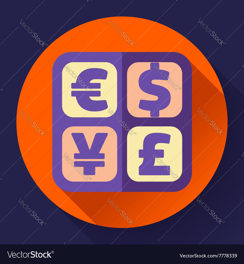 Currency exchange sign icon and converter symbol