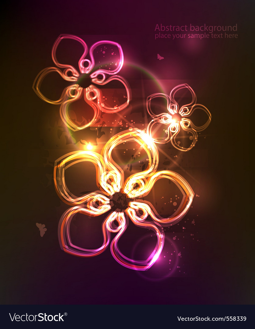 Dark background with glowing floral ornament