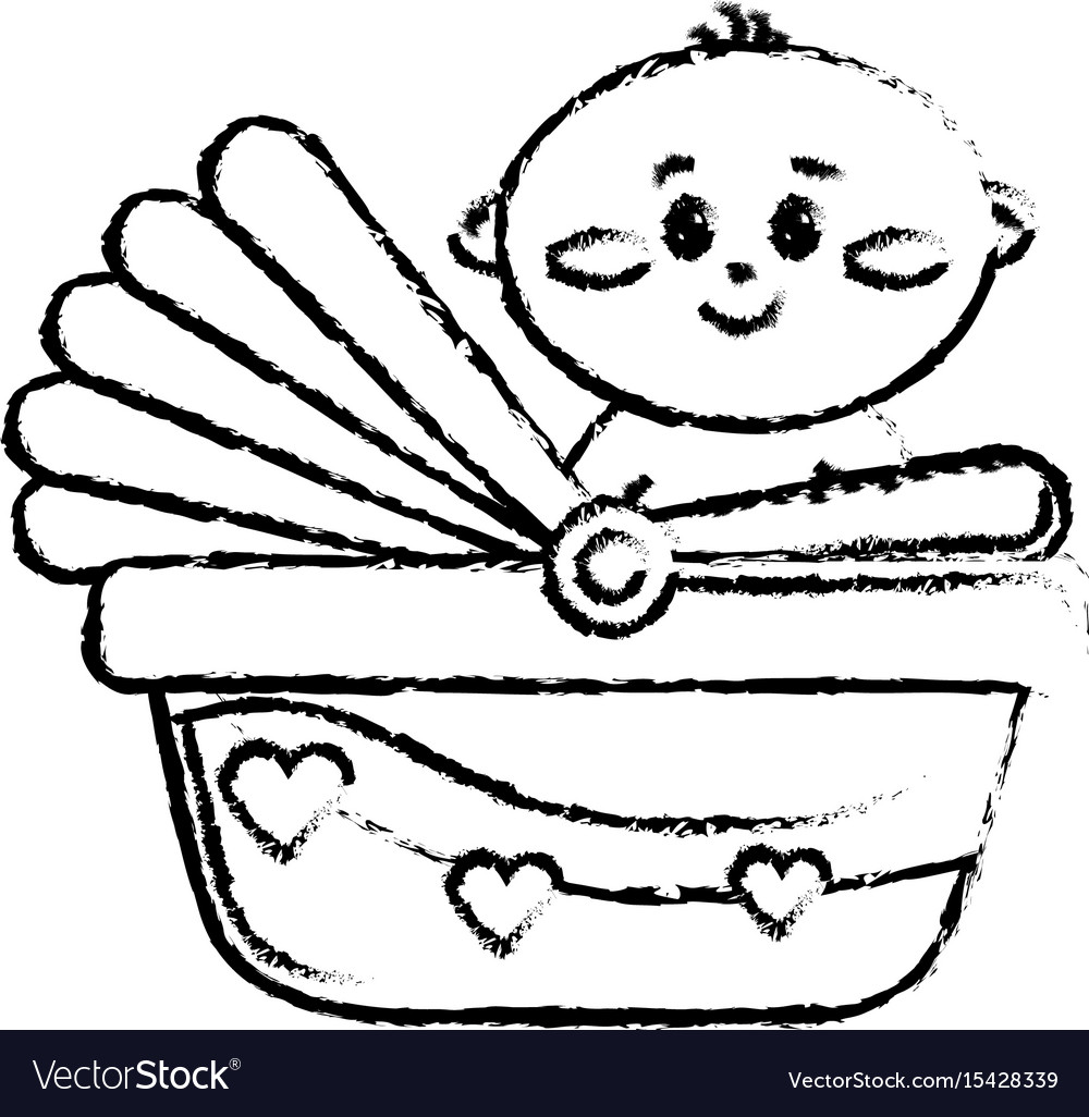 Figure security seat with baby child inside vector image