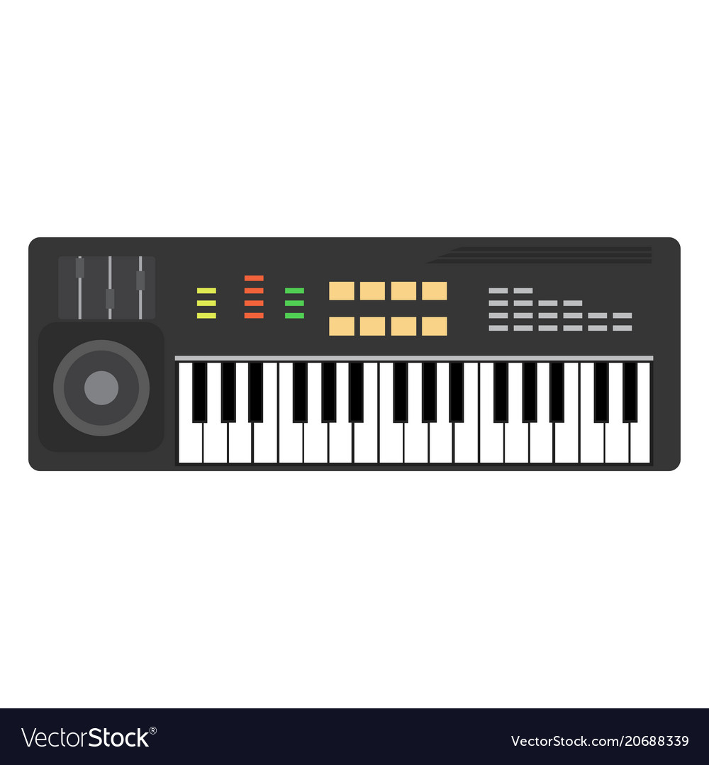 Music piano keyboard background musical keys vector image