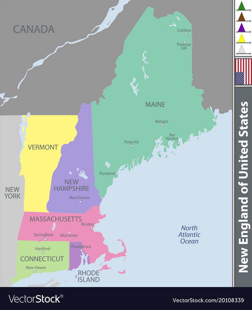 New England Of United States Vector Image