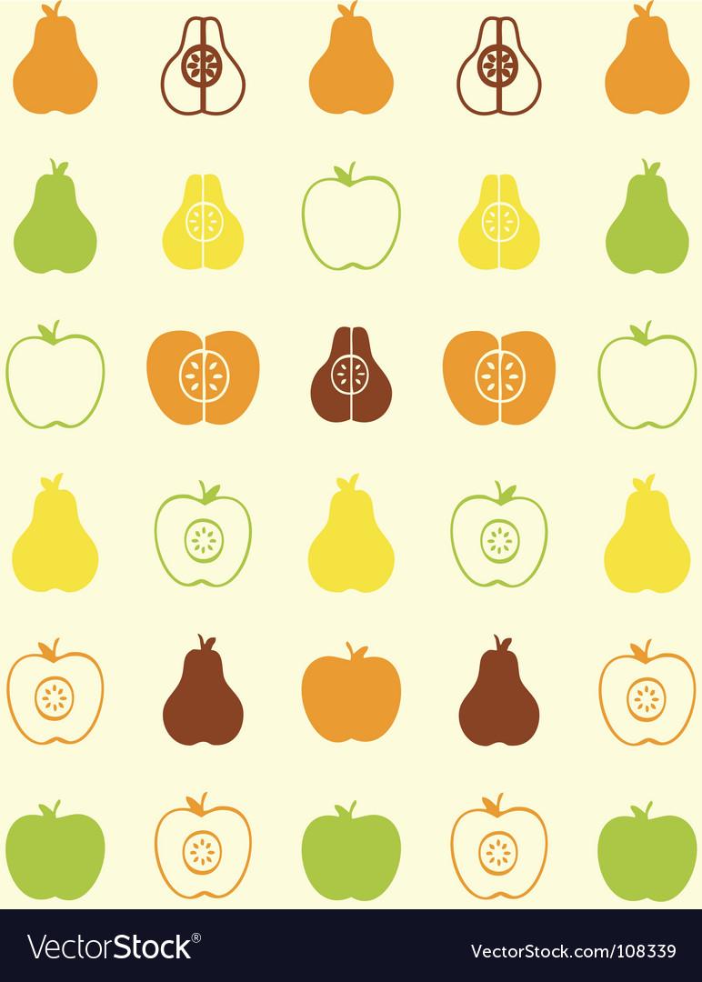 Pear wallpaper vector image