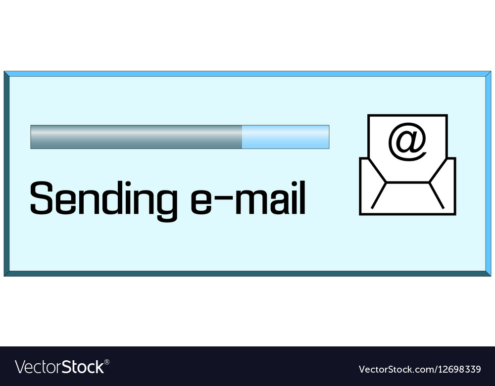 Process of sending emails vector image