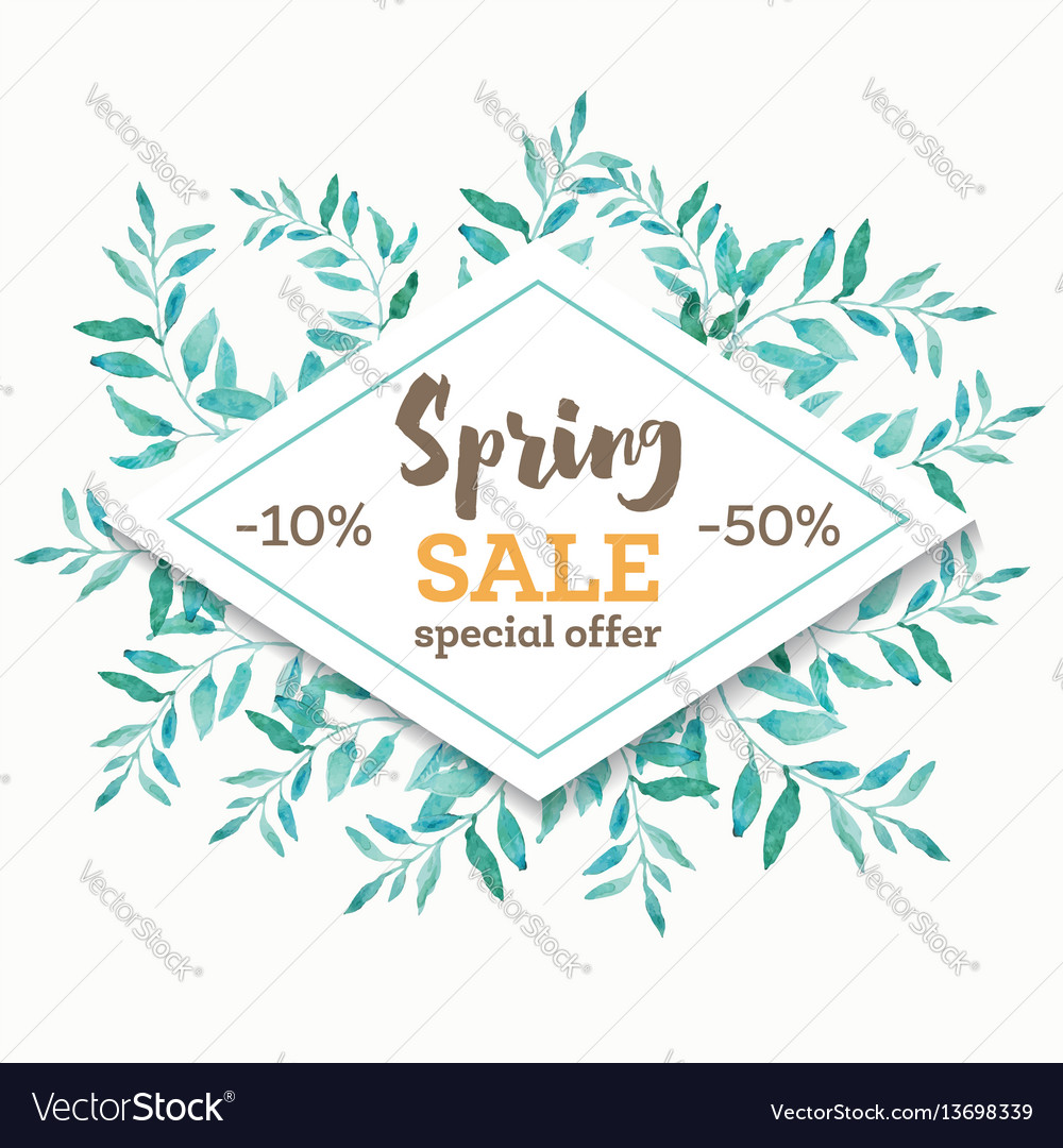 Spring sale background banner with beautiful
