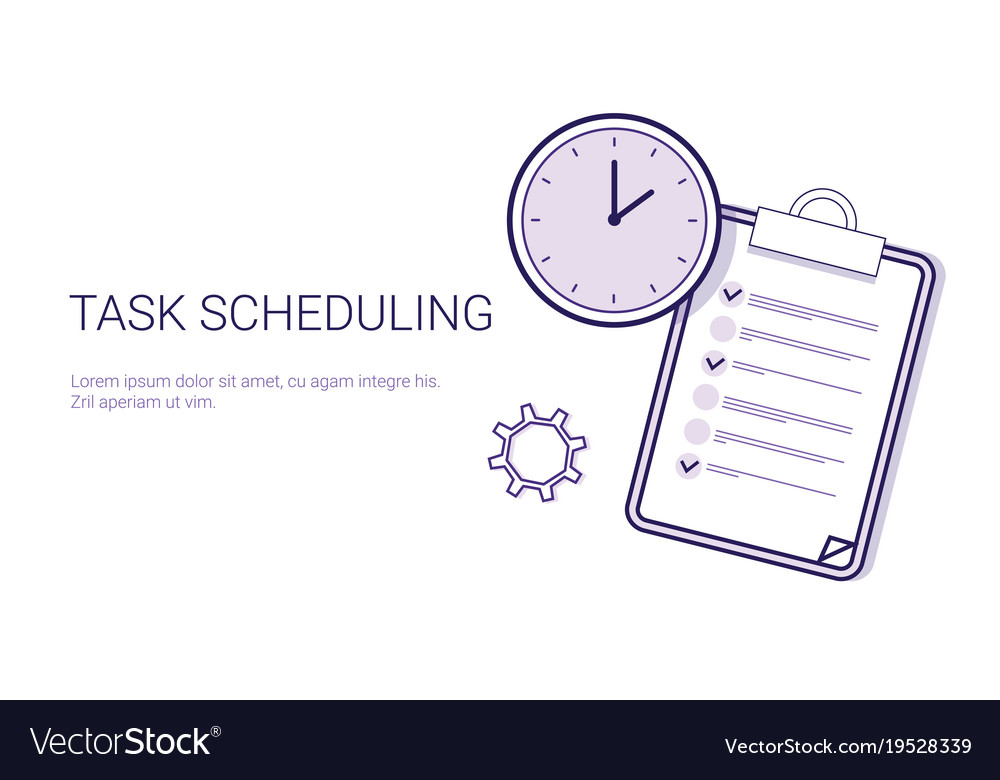 Task scheduling effective planning concept time