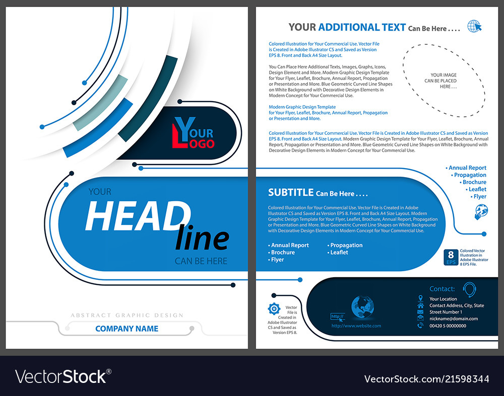 abstract flyer template in tech style royalty free vector