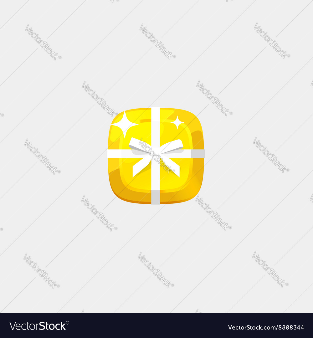 Abstract golden jewelry icon isolated flat
