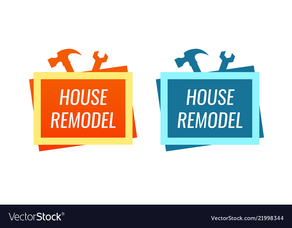 House remodel style logo for home renovation